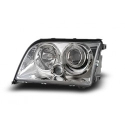 MERCEDES BENZ W140 S-Class 1994 - 1998 EAGLE EYES Chrome Projector Head Lamp + Corner Lamp [HL-011-BENZ]