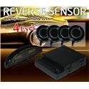 EASY AUTO 4-Eyes Silver Digital Parking Reverse Sensor System with LED Indicator Display [SSPSS-01]