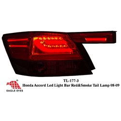 HONDA ACCORD 2008 - 2012 EAGLE EYES Red Smoke LED Light Bar Tail Lamp [TL-177-3]