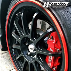 WORKS ENGINEERING Stylish Wheel Rim Protector (8 Colors Available)