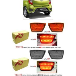 PERODUA AXIA E & G Spec Rear Reflector Light Bar LED Bumper Light with Brake Function (Red or Smoke)