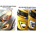 PERODUA AXIA E, G, SE Spec 2 in 1 LED Light Bar Fog Lamp Cover + Day Time Running Light DRL + Signal Light (EA)