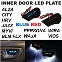 PROTON, PERODUA, HONDA & TOYOTA Car Inner/ Inside 4 Doors Handle Bowl Cover LED Board (Red/ Blue)