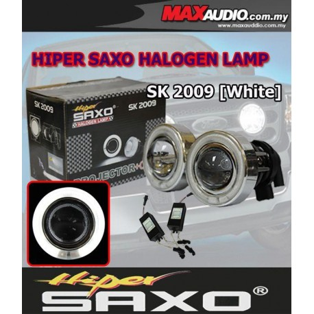 """SAXO 3"""" White CCFL Glass Project Fog Lamp with Ballast Made in Korea"""