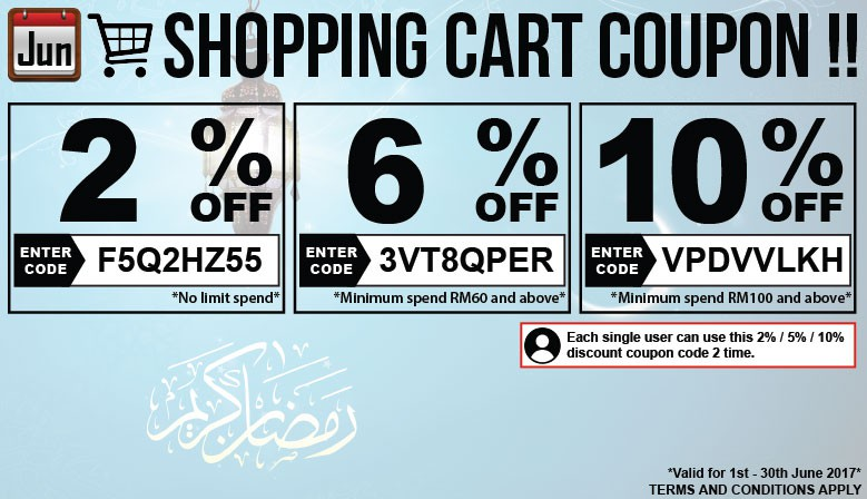Shopping Cart Coupon Discount !!