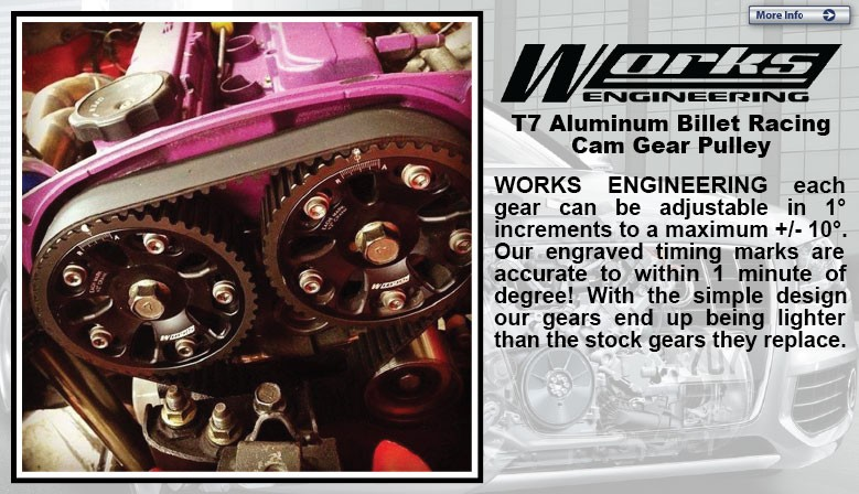 MOST ENGINE WORKS ENGINEERING USA T7 Aluminum Billet Racing Cam Gear Pulley [W-CG]